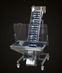 sistema alimentacion almacen cinta elevadora